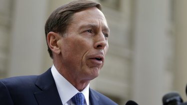 Former CIA director David Petraeus leaves the federal courthouse in North Carolina after pleading guilty to sharing top government secrets with his biographer.