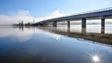 Commonwealth Bridge in Canberra.