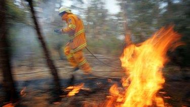 Prescribed burn operation in Wedderburn on Saturday.