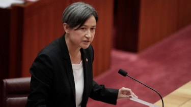 """Game-changer: Penny Wong says China's initiative """"represents a rejection of the conventional ways of doing business."""""""