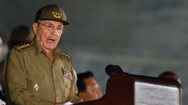 Concerned: Cuban President Raul Castro