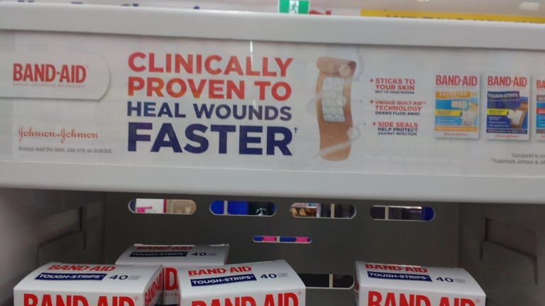 A Band-Aid advert spotted by Dr Ken Harvey.