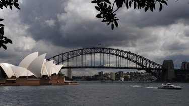 Storm clouds are brewing over Sydney with rain on the way.