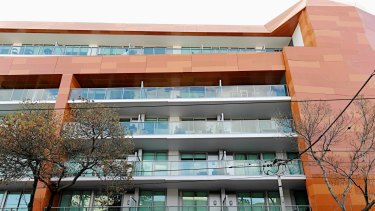The cladding on the Trilogi apartment building in Prahran is a possible fire risk.