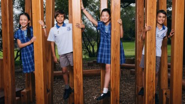 Year 6 students from Hurstville Public School who sat the Selective Schools test in 2017.