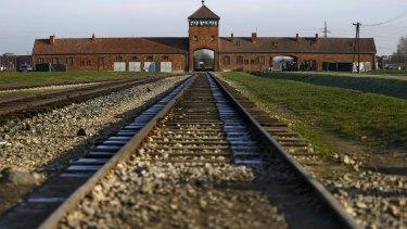 The former German Nazi extermination and concentration camp Auschwitz-Birkenau in Brzezinka, Poland.