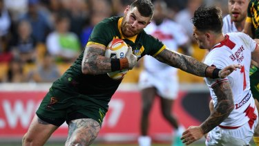 Josh Dugan powers through.