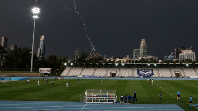 Lightning struck during a W-League match between Melbourne Victory and the Western Sydney Wanderers.