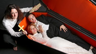 The cast of the Little One's Theatre Company production of 'Dracula'  (L-R) Janine Watson, Zoe Boesen and Alexandra Aldrich.