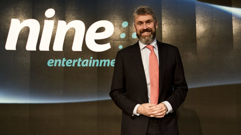 Hugh Marks has replaced David Gyngell (pictured) as Nine Entertainment Co chief executive.