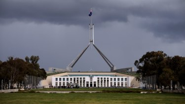 Storm clouds continue to brew over Parliament House.