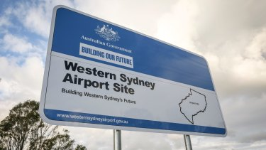 The Turnbull government favours a north-south link to the new airport.
