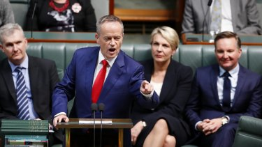 Opposition Leader Bill Shorten delivers his budget reply speech in Federal Parliament on May 11.