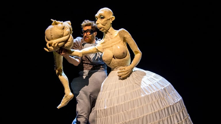 Duda Paiva performs in Blind, part of the Festival of Live Art, at Theatre Works.