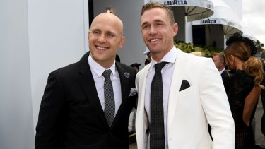 Cats reunited: Gary Ablett and Joel Selwood.