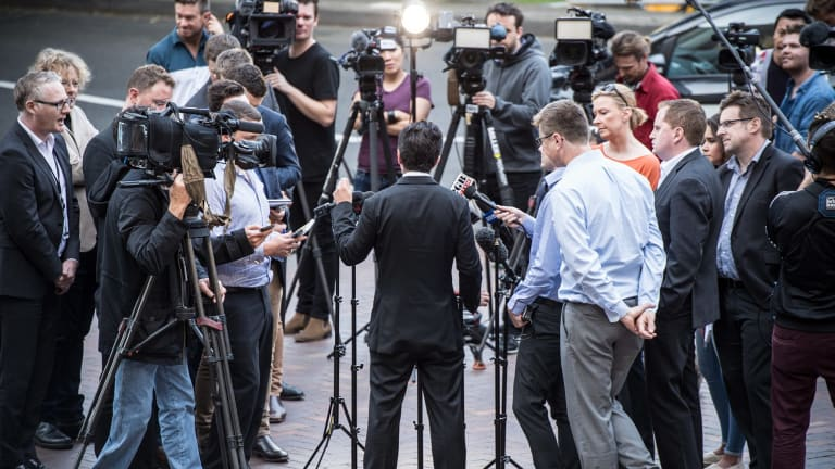 Sometimes mass media coverage is a symptom of a bigger problem: here Senator Sam Dastyari talks after resigning as opposition consumer affairs spokesman after revelations he asked a company with links to the Chinese government to refund $1600 worth of travel expenses.