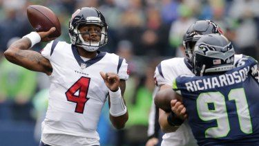 45a48173034 Houston quarterback Deshaun Watson has been cut down during his first NFL  season.