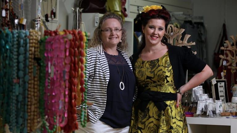Handmade Market powerhouses Julie Nichols and Rachel Evagelou.