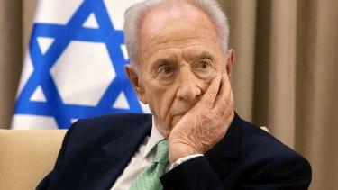 Former Israeli President Shimon Peres in 2013.