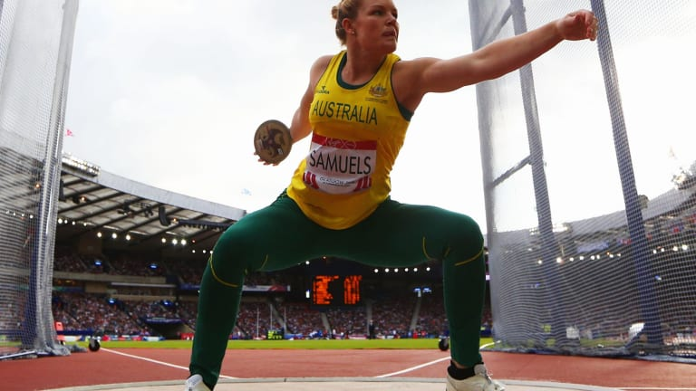 Dani Samuels was never challenged for the gold medal.