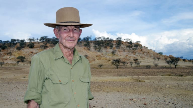 """Charlie Phillott at his former Queensland property, where he is now a """"caretaker""""."""