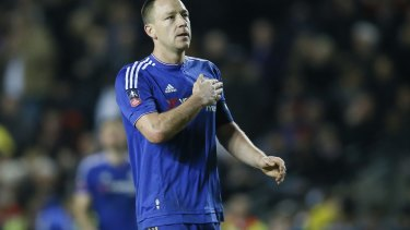 On the outer: Chelsea skipper John Terry.