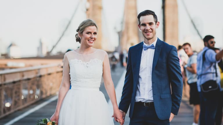Brisbane couple Lindsay Klein and Lani Jennings were married about a year-and-a-half ago, but have been together seven years.