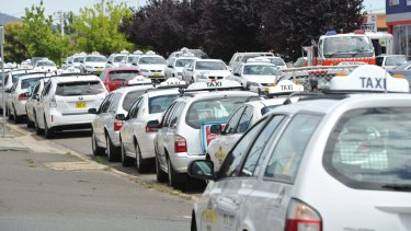 Taxi drivers will strike on Wednesday, worried about how they will be looked after when Uber comes to Canberra.