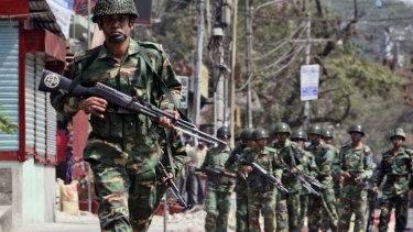Soldiers have long had a presence in Bangladesh.
