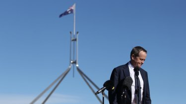 Opposition Leader Bill Shorten, pictured in Canberra on Wednesday, has expressed grave doubts about the government's citizenship plan.