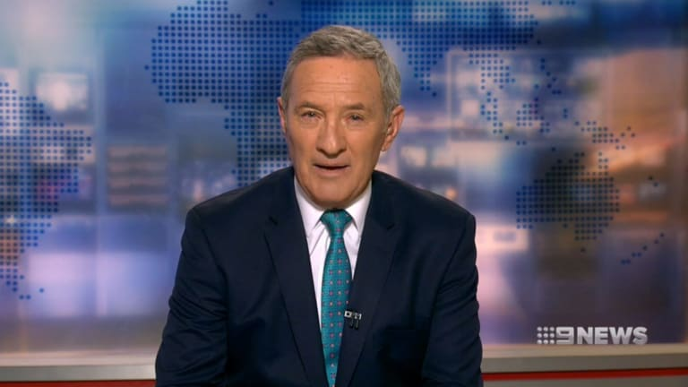 Ever the seasoned professional, Ken Sutcliffe almost didn't miss a beat when announcing his retirement on Nine News.