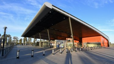The newly opened Leppington Station in Sydney's south west.