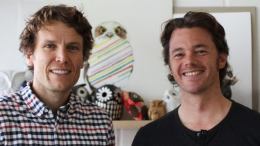 Bellroy co-founders Andy Fallshaw, left, and Hadrien Monloup.