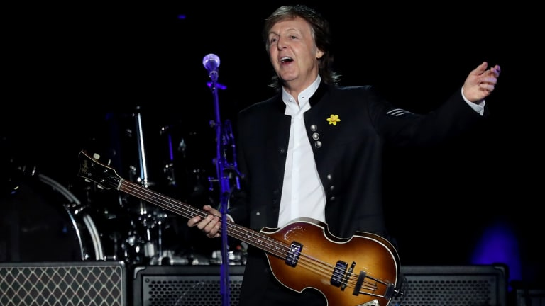 At 75, Paul McCartney didn't seem to want to stop playing at his three-hour gig.