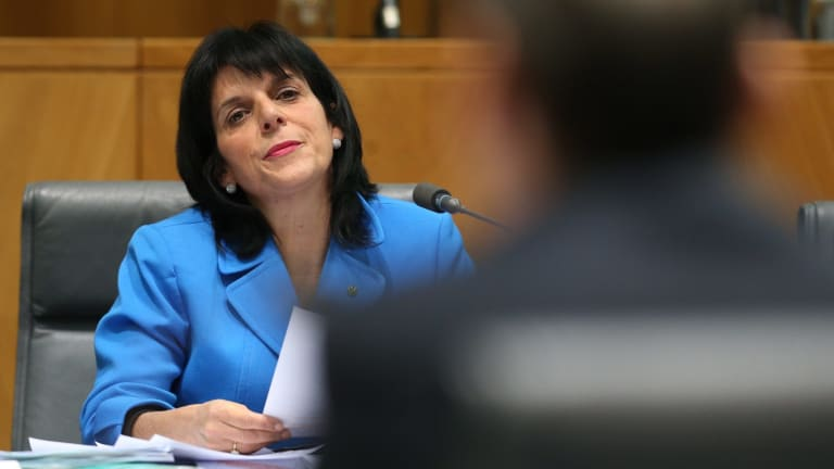Liberal MP Julia Banks during the bank hearings at Parliament House in Canberra.
