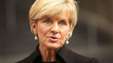 Julie Bishop weighed into the row over China's Pacific aid program.