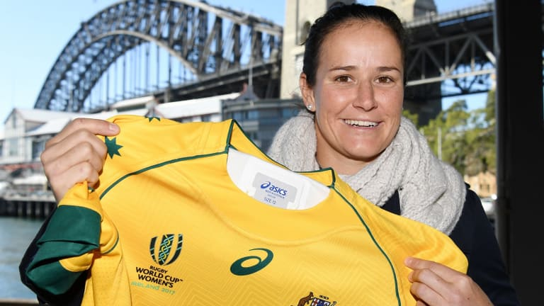 Proud ambassador: Sevens co-captain Shannon Parry presented the results of the study, which found that women's team sport had a positive impact in the workplace.
