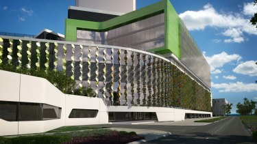 An artist impression of Perth's Children's Hospital that has been plagued by construction problems, which have prevented it from opening.