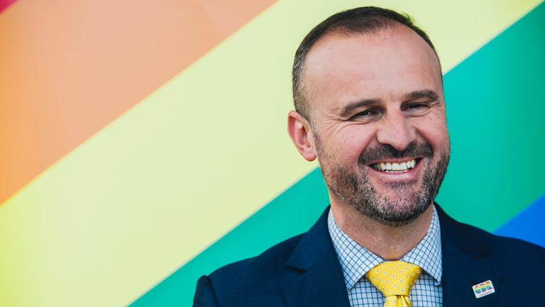 ACT Chief Minister Andrew Barr: Has offered to proxy vote for anyone who needs help with a yes vote in the postal survey on same-sex marriage.