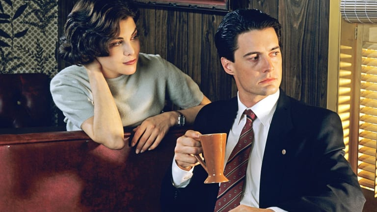 Sherilyn Fenn and Kyle MacLachlan in the original <i>Twin Peaks</I>. Both have returned for the new series.