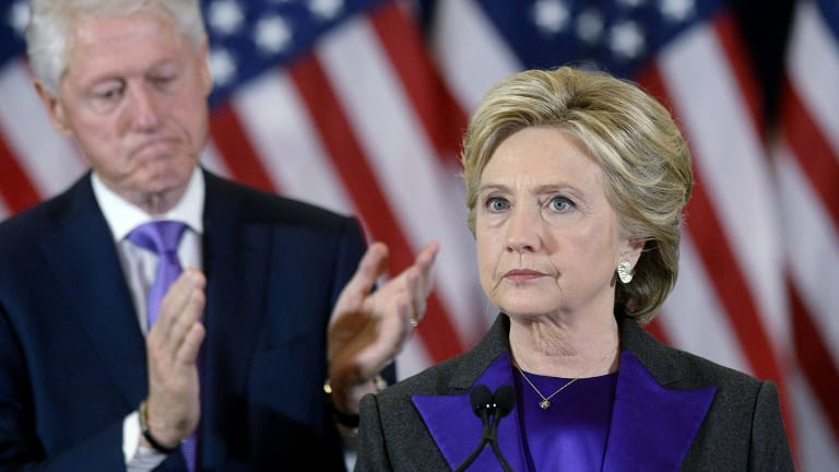 With a handful more voters, a grim-faced Hillary Clinton might not have been making this concession speech.