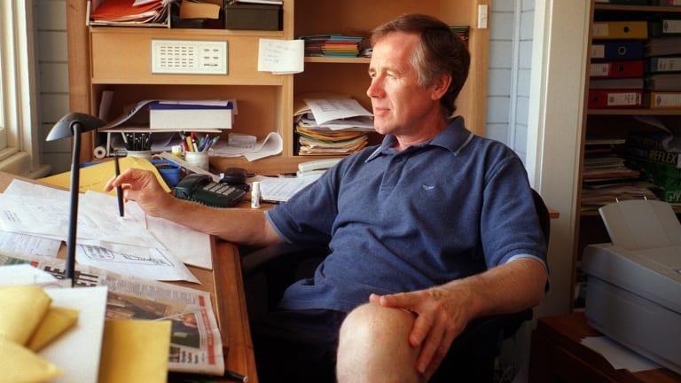 <i>Age</i> cartoonist Ron Tandberg at his Queenscliff studio.