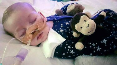 Charlie Gard, who is terminally-ill, at Great Ormond Street Hospital in London.