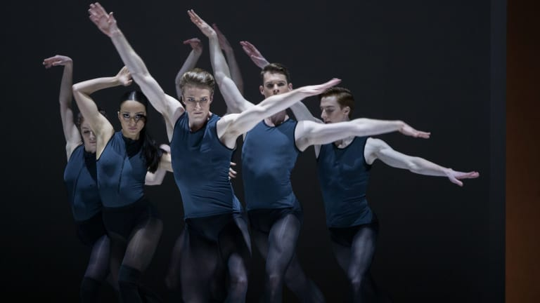 Tim Harbour made his piece for a cast of eight men and four women.