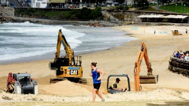 The big clean up at Coogee Beach.