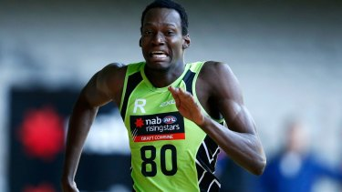 Going places fast: Tony Olango