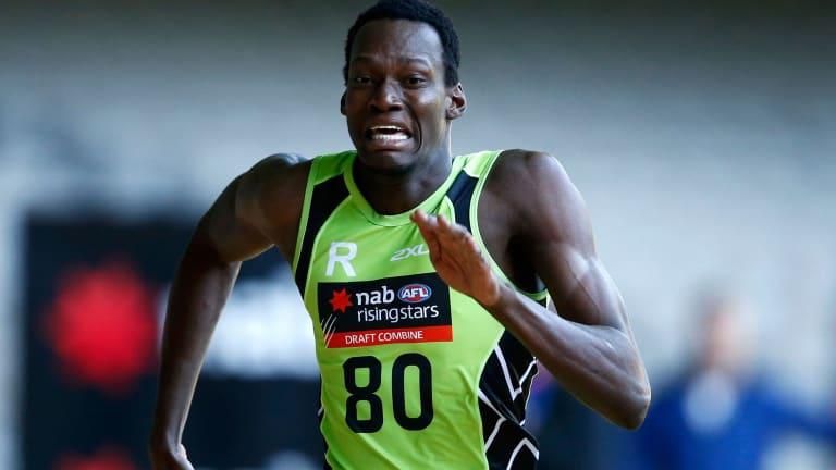 Going places fast: Tony Olango