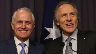 Malcolm Turnbull and Chief Scientist Alan Finkel, who is a science entrepreneur.