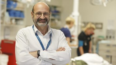 Professor George Braitberg worked through the asthma crisis on Monday.