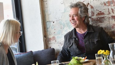 Brian Nankervis at Dandelion with journalist Kylie Northover.
